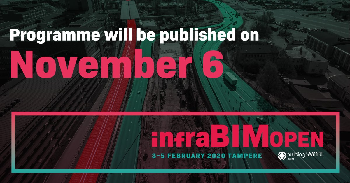 @InfraBIMOpen: Week to go and then you get to see the magnificent programme of InfraBIM Open 2020! This is almost like waiting for Christmas but better!  Don't you forget the Early Bird fees of the conference. Register: https://t.co/qFWDkeoEob!  #infrabimopen #openBIM #infrastructure #earlybird https://t.co/dCPAOrcJo1