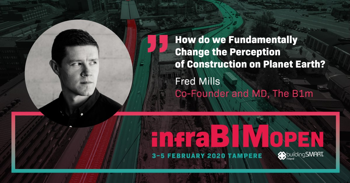 """@InfraBIMOpen: 4 weeks to go!   Get to know our great keynote speaker: @Fred_Mills, co-founder and managing director at @TheB1M will hold a keynote about """"How do we Fundamentally Change the Perception of Construction on Planet Earth?""""  https://t.co/qFWDkeoEob #infrabimopen #openbim #InfraBIM https://t.co/xecR5kVFkv"""