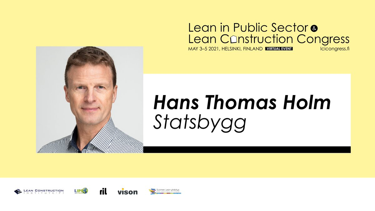Hans Thomas Holm & Per Roger from Statsbygg will share their experiences and knowledge on how owners can show the way by dem...