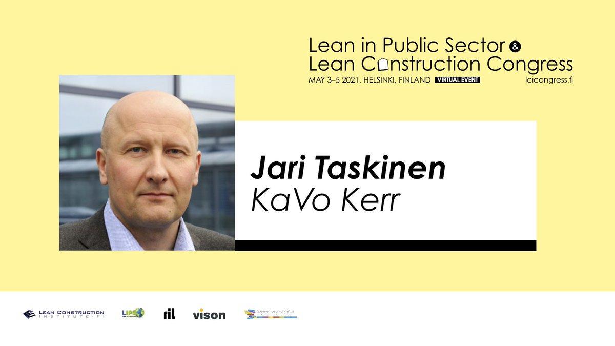 #LeanConstruction-konferenssin kotimaisessa päivässä ensimmäisenä Keynote-puhujana kuullaan Jari Taskista, joka valaisee kuulijo...